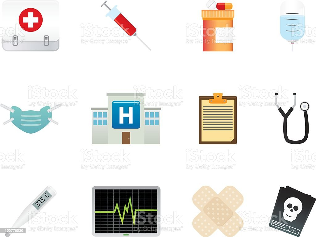 Various medical icon sets of symbols vector art illustration