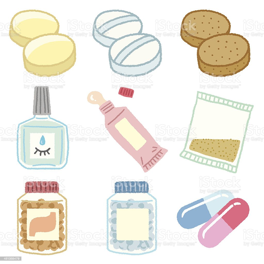 Various medicine icon royalty-free stock vector art