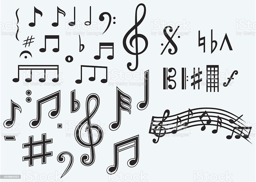 Various musical notes royalty-free stock vector art