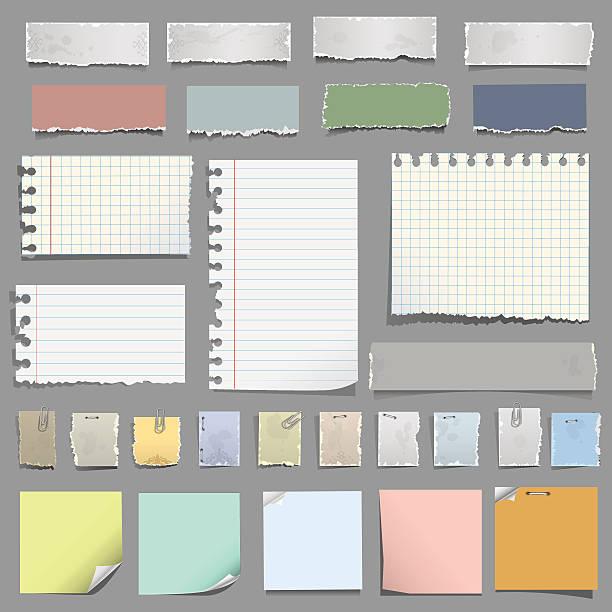 различных отмечает бумаги - post it notes stock illustrations