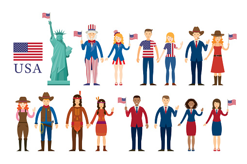 Various of Americans People, Statue of Liberty