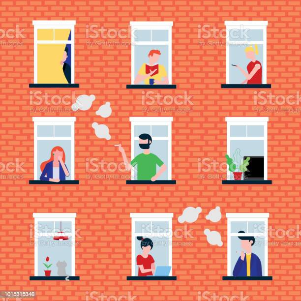 Various people in their windows behind brick wall characters flat vector id1015315346?b=1&k=6&m=1015315346&s=612x612&h=6lqlcq0h7mbd057na1qh0bcn1n2utjk8vigc1zlx0oo=