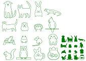 various pet animals.