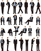 istock Various postures and movements of a businessman 1244325110