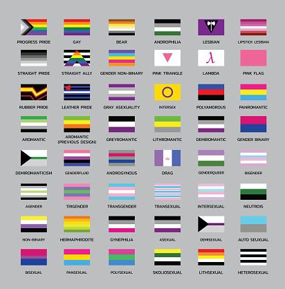 Various Pride Flags Differentation Set 1
