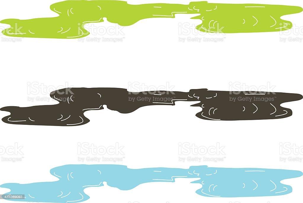Various Puddles vector art illustration