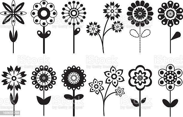 Various retro flower icons vector id165655768?b=1&k=6&m=165655768&s=612x612&h=hm5nnslt7mdgvuntaeahyvmf3eiw4rbvx5abicjn5di=