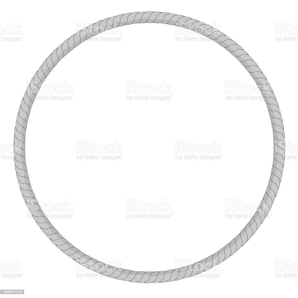 Ilustración de Varia Forma Marco De Cuerda Gris Para Su Diseño Del ...