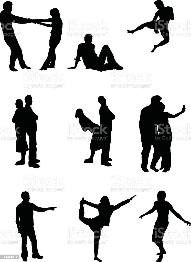 Various shapes of people doing things royalty-free various shapes of people doing things stock vector art & more images of adult