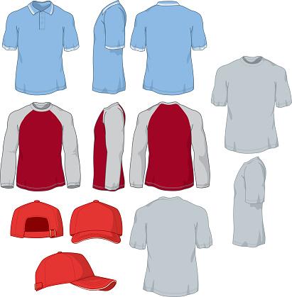 Various Shirts and Baseball Cap