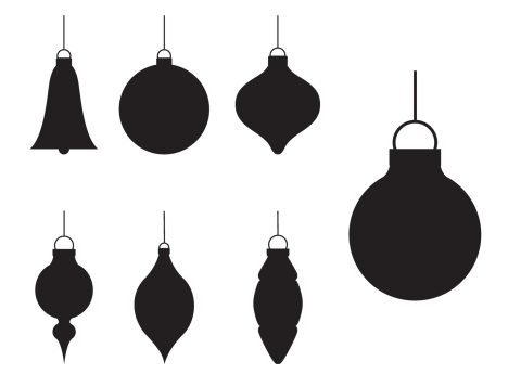 Various Silhouette Christmas Baubles