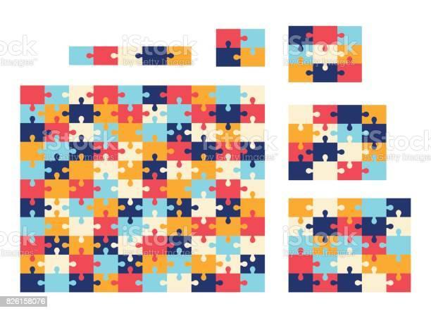 Various sizes jigsaw puzzle vector colorful collection vector id826158076?b=1&k=6&m=826158076&s=612x612&h=gcta07hdd8d2nxr wopomcd aoupokgoviiisjk2fhm=