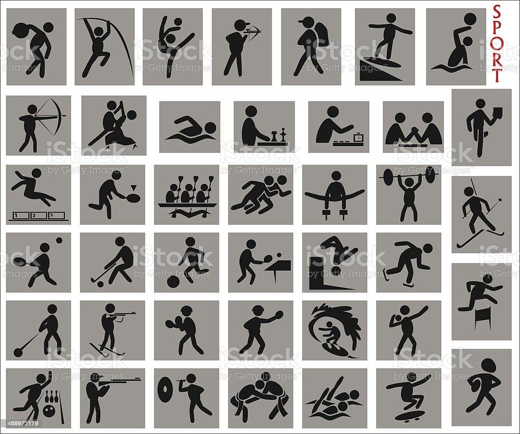 various sports vector art illustration
