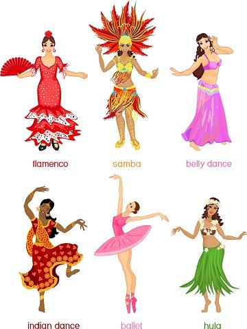Various style dancing