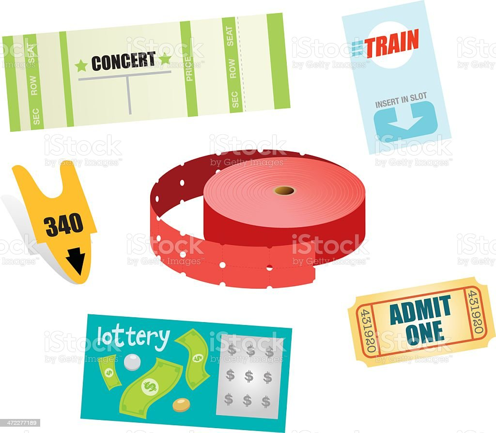 Various Tickets royalty-free stock vector art