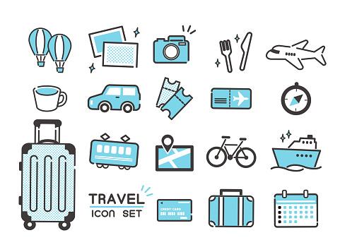Various travel icon set / simple / set