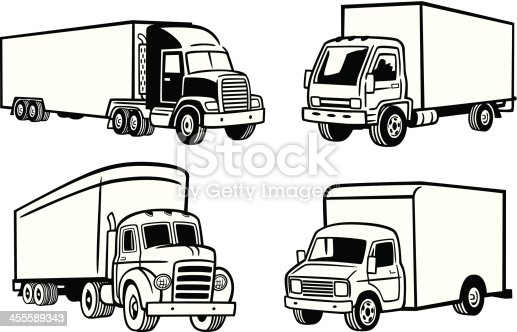 Great illustration of various trucks. Perfect for a transportation or moving illustration. EPS and JPEG files included. Be sure to view my other illustrations, thanks!