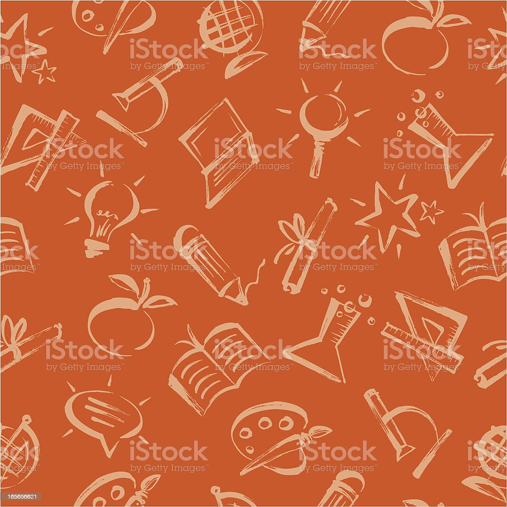 Various types of seamless education patterns royalty-free stock vector art
