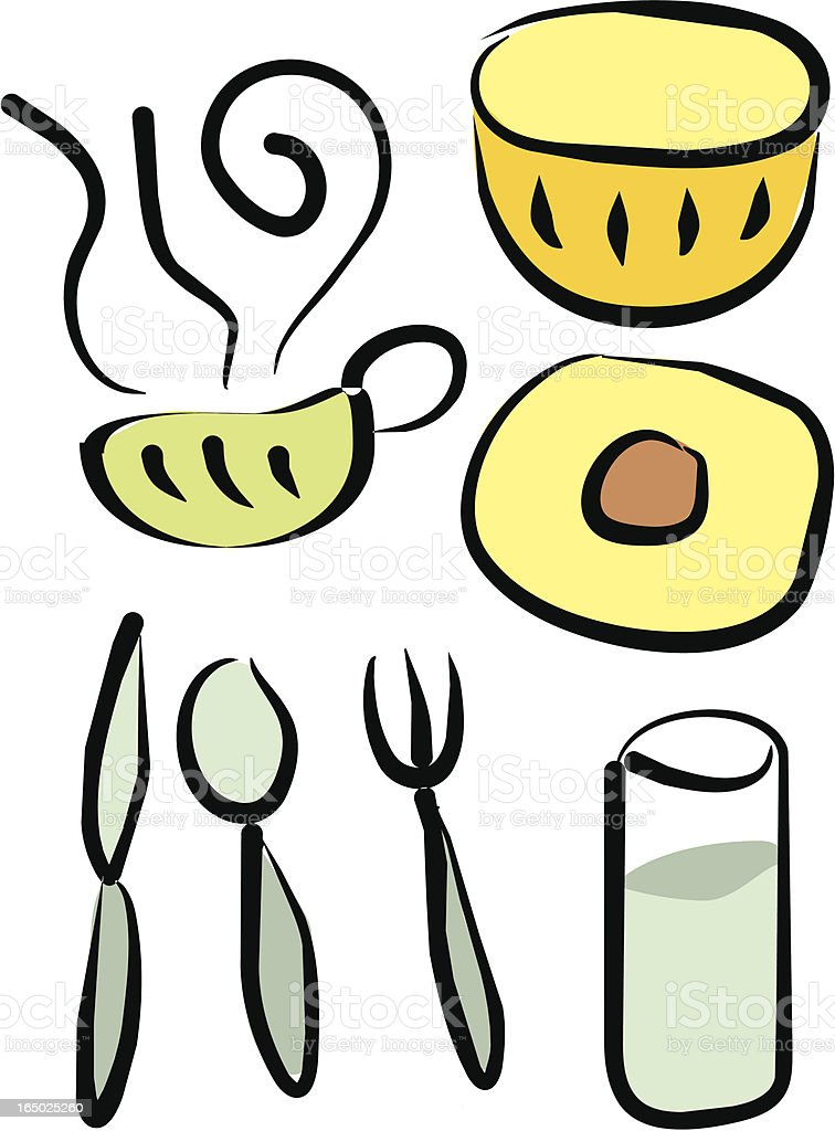 Various utensils (Vector) royalty-free stock vector art