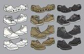 istock Various vector men's shoes 154200017