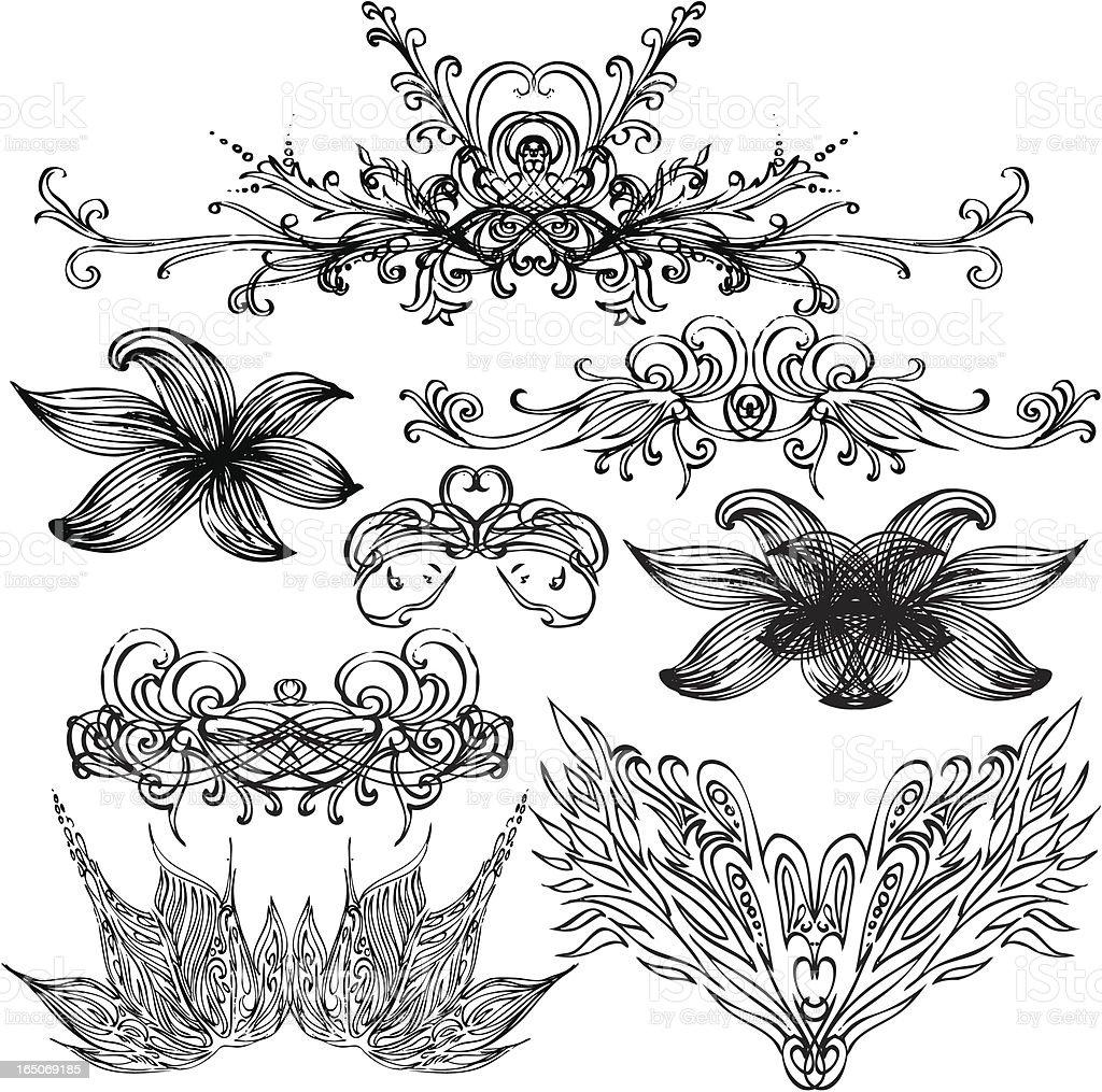 Verschiedenen Vektor-Ornamente Lizenzfreies verschiedenen vektorornamente stock vektor art und mehr bilder von ast - pflanzenbestandteil