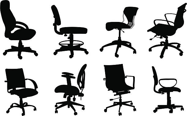 Various Vector Silhouette A-Digit office chair stock illustrations