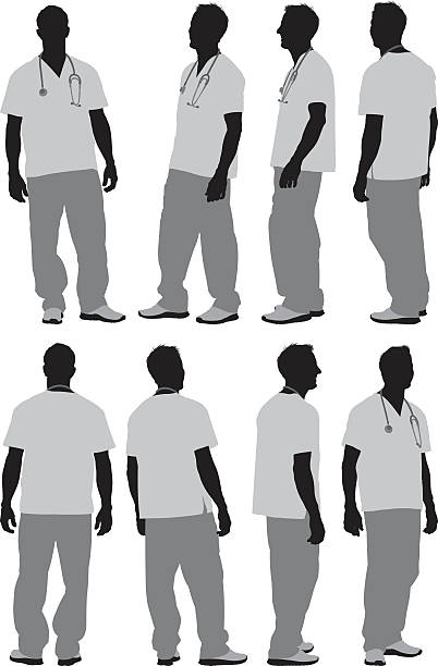 Various views of male nurse Various views of male nursehttp://www.twodozendesign.info/i/1.png male nurse stock illustrations