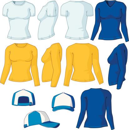 Various Women Shirts and Baseball Cap