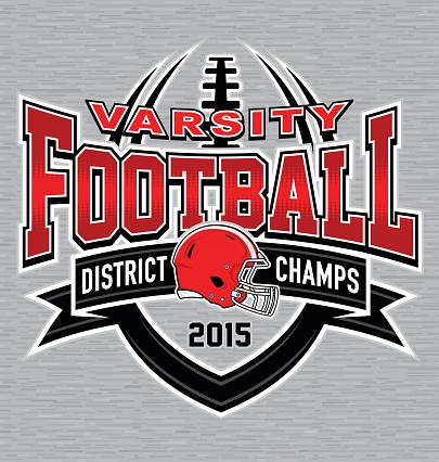 Varisty football t-shirt graphic