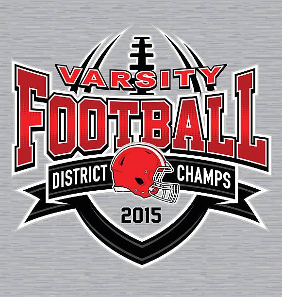 Varisty football t-shirt graphic - ilustración de arte vectorial