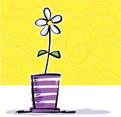 Nice vase with flower