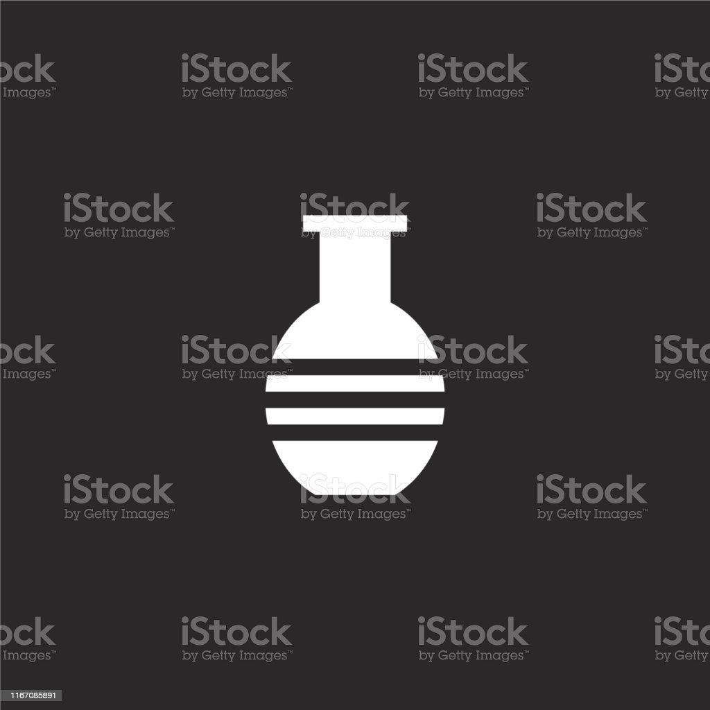 vase icon. Filled vase icon for website design and mobile, app...