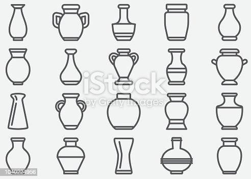 istock Vase Line Icons 1040224956