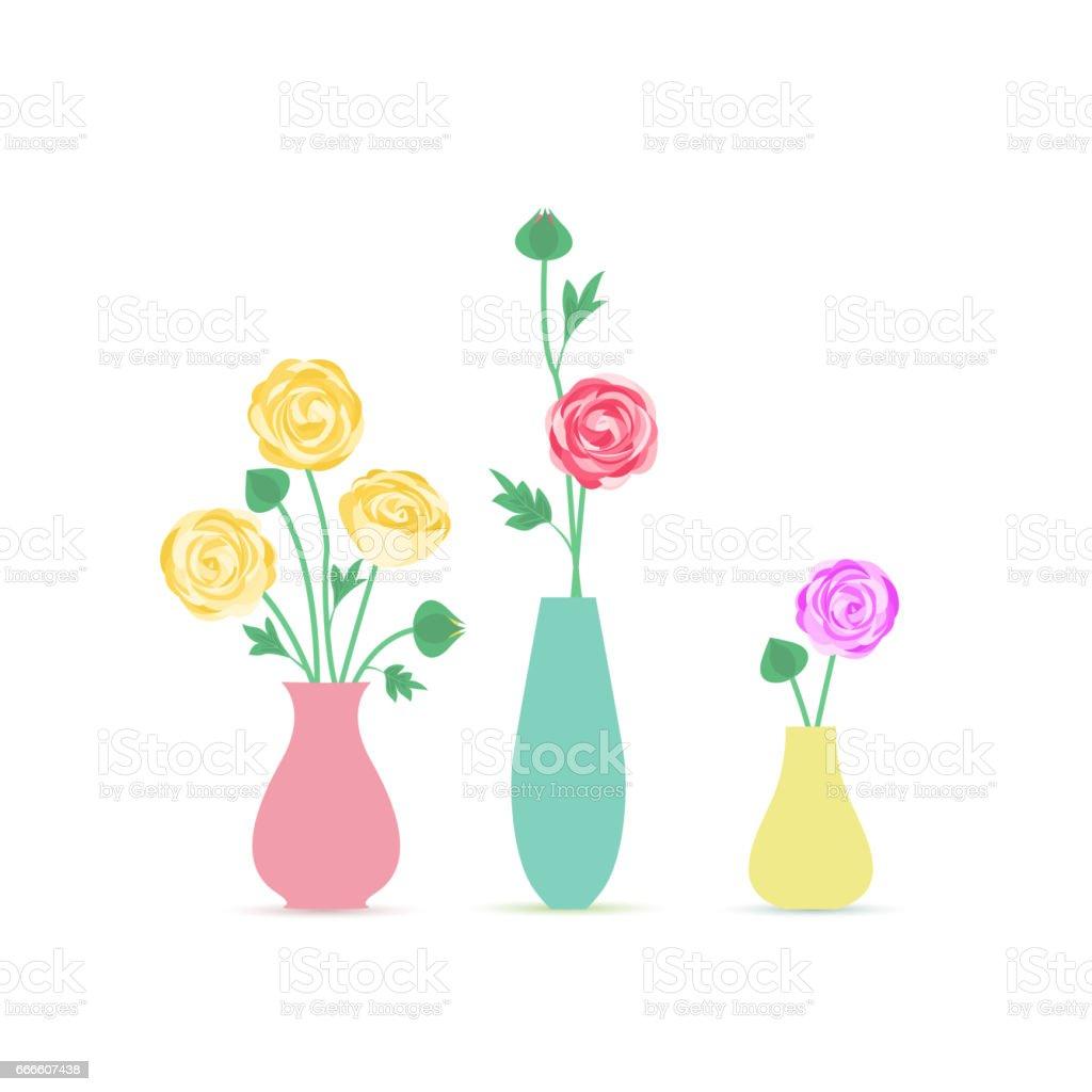 Vase of flowers векторная иллюстрация
