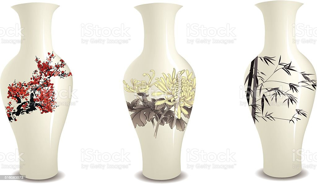 vase vector art illustration
