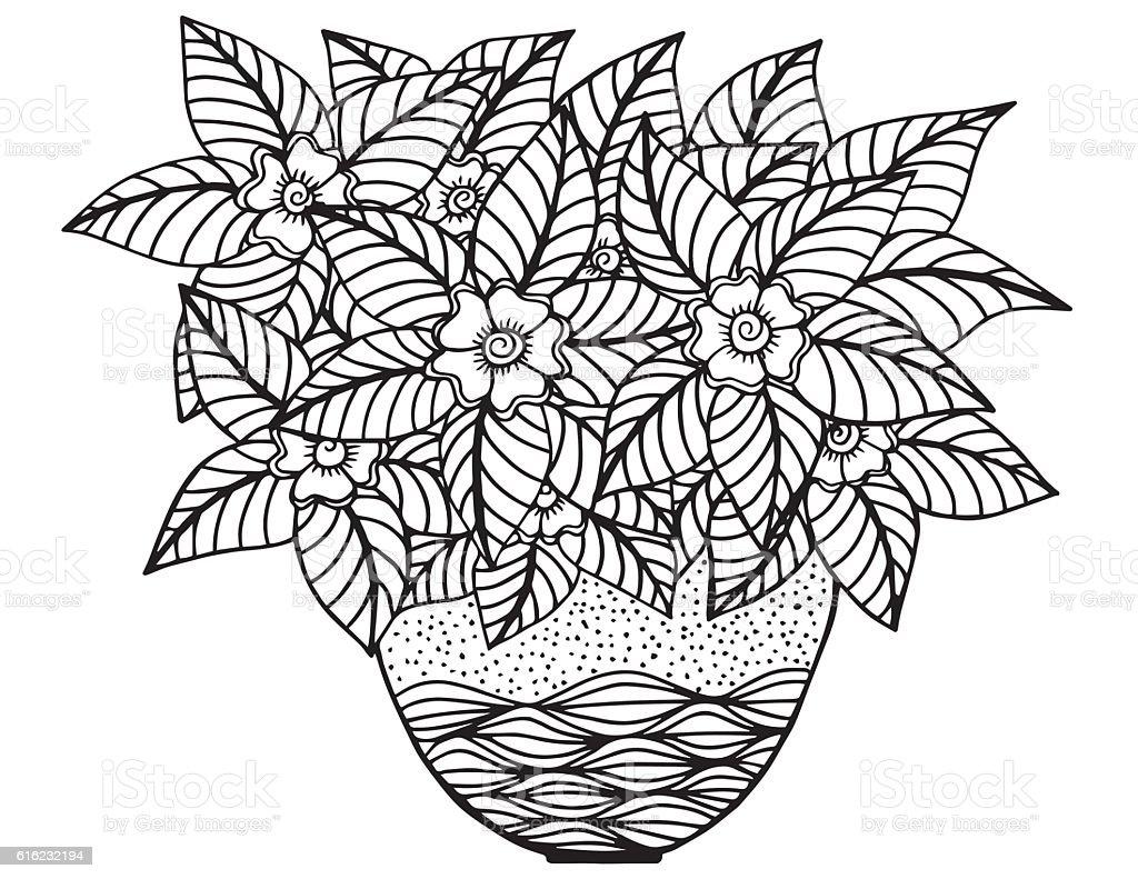 bouquet flower plant rose flower vase. bouquet of flowers drawing ...
