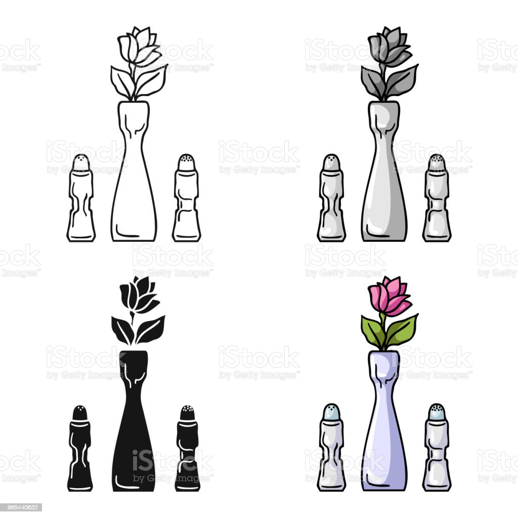 Vase with flower icon in cartoon style isolated on white background. Restaurant symbol stock vector web illustration. royalty-free vase with flower icon in cartoon style isolated on white background restaurant symbol stock vector web illustration stock vector art & more images of art and craft