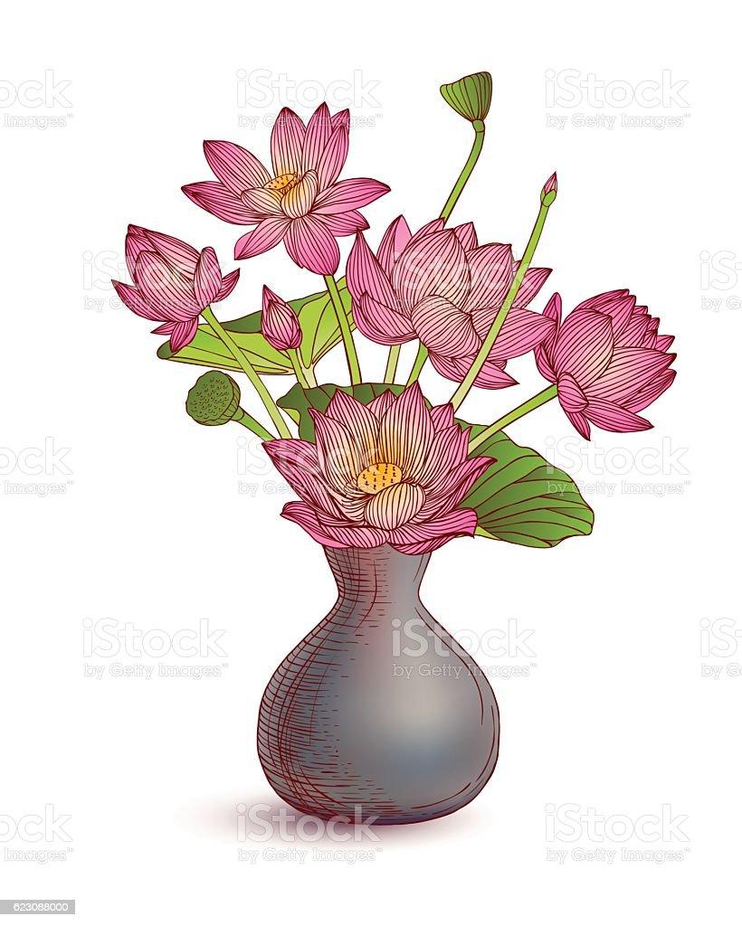 Geliebte Vase Mit Blumen Stock Vektor Art und mehr Bilder von Blume #YG_34