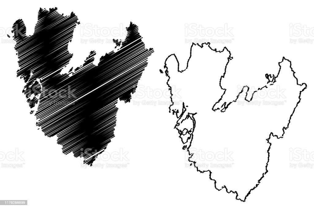 Vastra Gotaland County Map Vector Illustration Scribble Sketch Vastra Gotaland Map Stock Illustration Download Image Now Istock