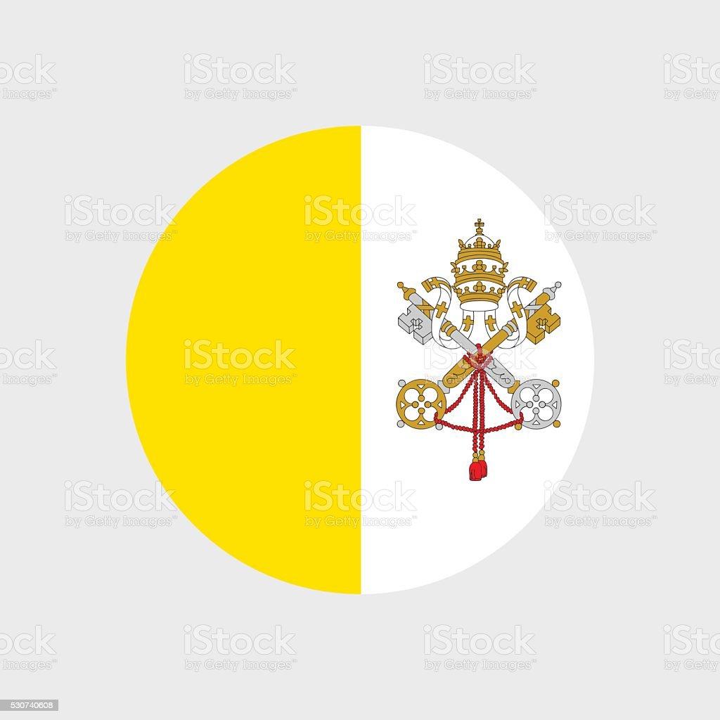 Vatican City flag vector art illustration