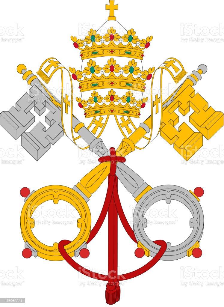 Vatican Flag vector art illustration