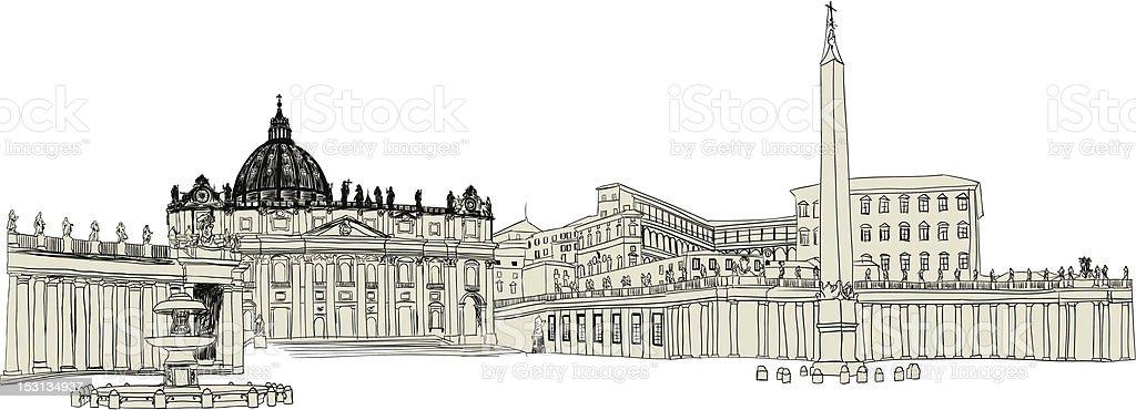 Vatican sketch royalty-free vatican sketch stock vector art & more images of aging process