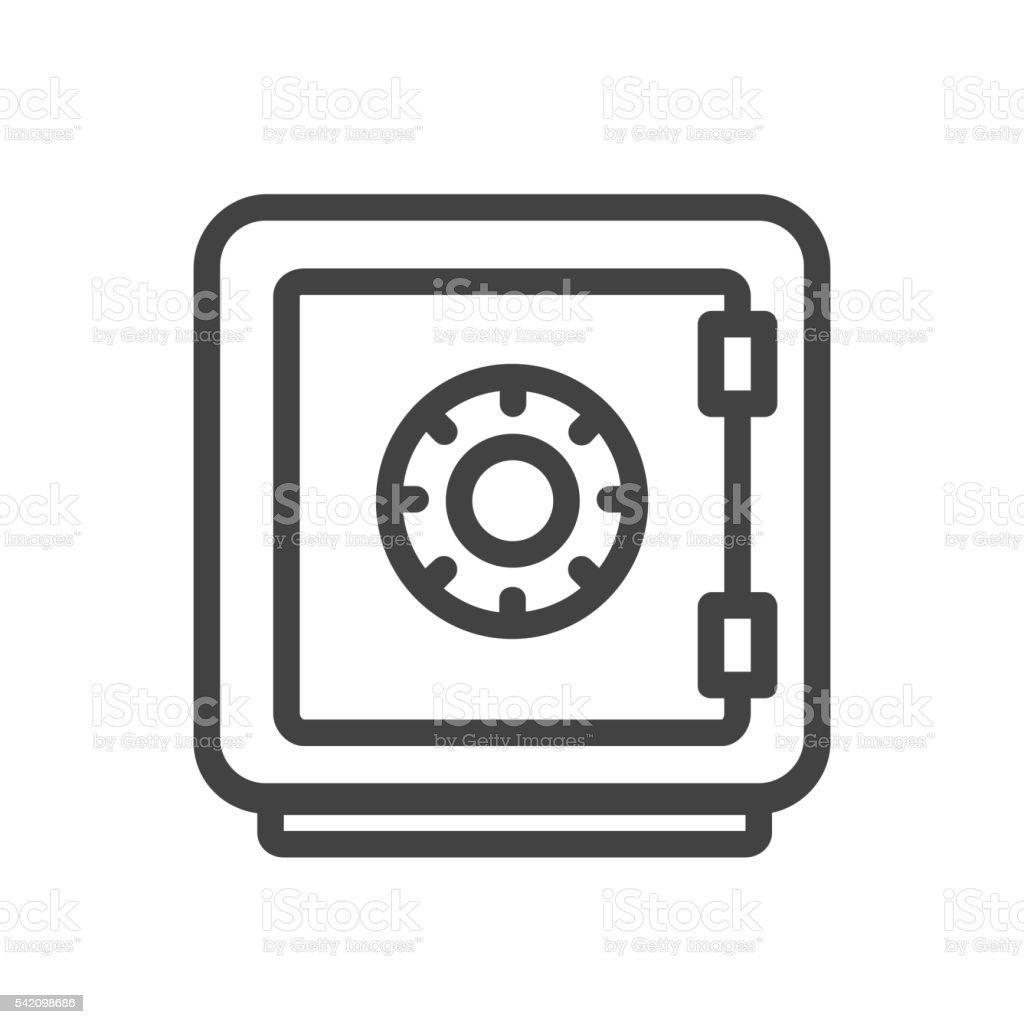 Vault single icon vector art illustration