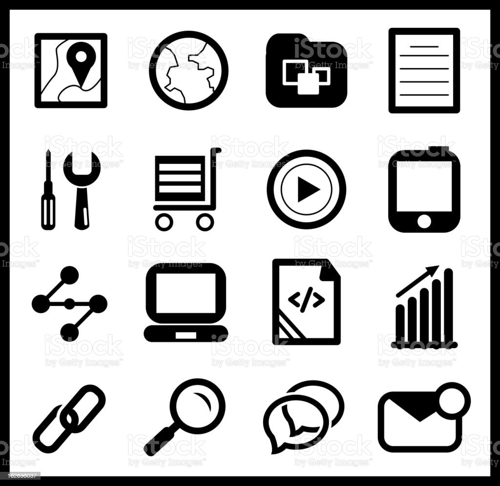 Vecctor computer icons royalty-free stock vector art
