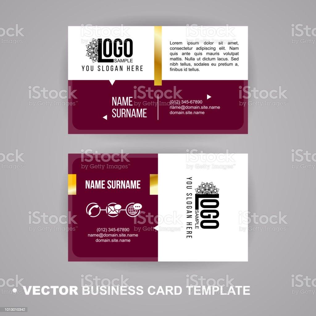 Vecrot Visitenkarte Vorlage Moderne Abstrakte Luxus Stil Für