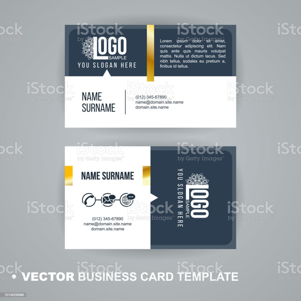 Vecrot Business Card Template Modern Abstract Luxury Style