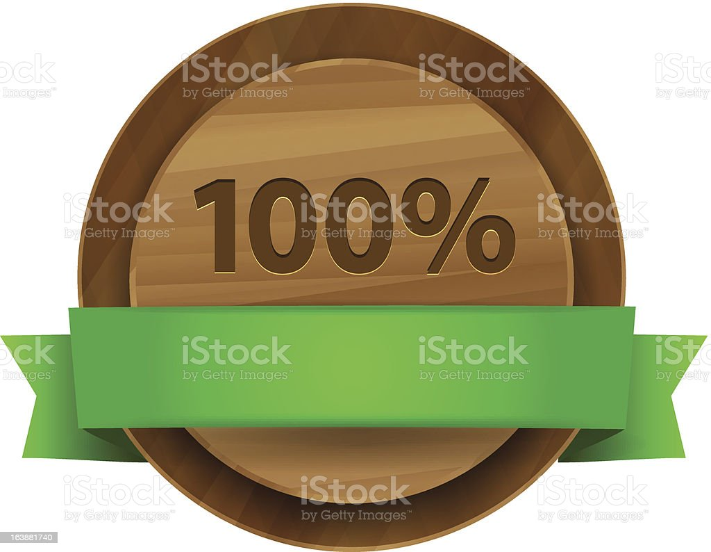 Vector 100% green wooden label royalty-free vector 100 green wooden label stock vector art & more images of abstract