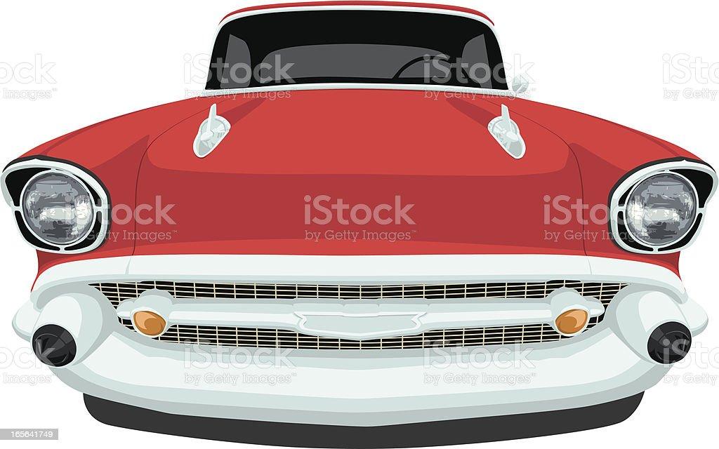 Vector 1957 Chevrolet Bel Air Front View Stock Vector Art More
