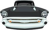 Vector 1957 Chevrolet Bel Air - Front View