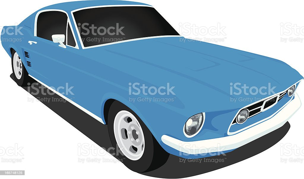 Vector 1967 Ford Mustang royalty-free vector 1967 ford mustang stock vector art & more images of 1960-1969